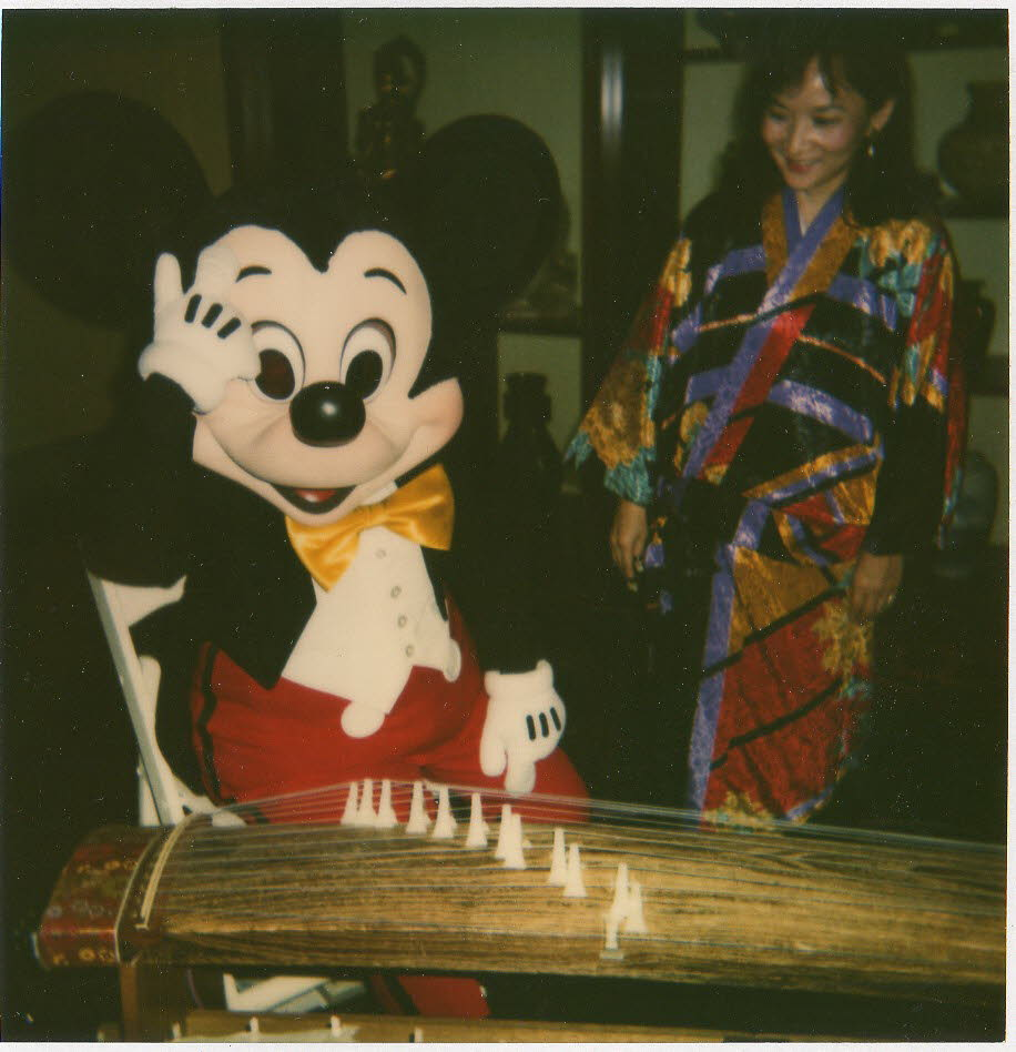 Shirley with Mickey Mouse