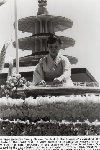 Shirley on Cherry Blossom Parade Float